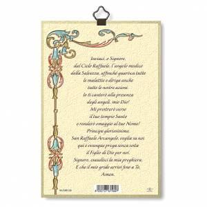 Stampa su legno San Raffaele Arcangelo Preghiera ITA s3