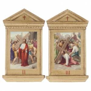 Way of the Cross: Stations of the Cross printed on wood framed, 15 station