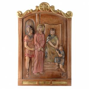 Way of the Cross: Stations of the Cross wooden relief, painted