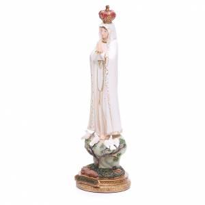 Statua Madonna di Fatima 33 cm resina s2
