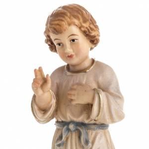 Statua in legno Gesù Adolescente dipinta Val Gardena s2