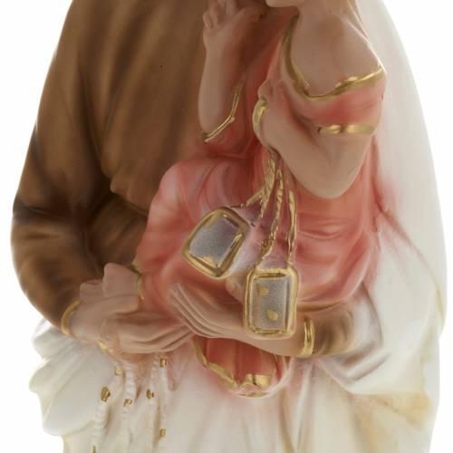 Statua Madonna del Carmine 40 cm gesso s3