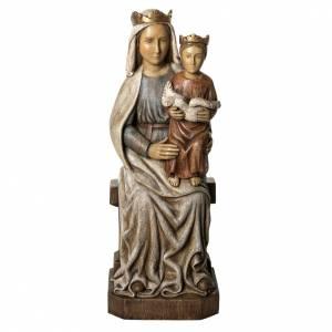 Madonna di Liesse 66 cm legno dipinto Bethléem s1