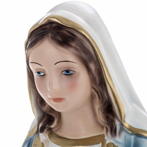 Statua Madonna Miracolosa 40 cm gesso madreperlato s5