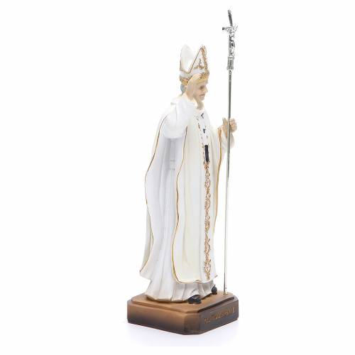 Statua Papa G. Paolo II 20 cm in resina s4