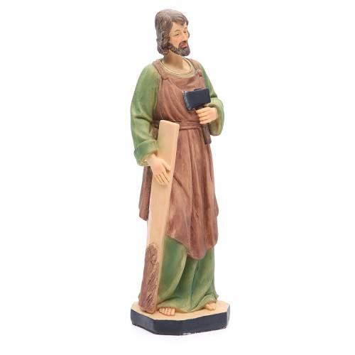 Statua San Giuseppe 30 cm resina colorata s4