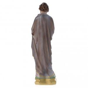 Statua San Giuseppe con bambino gesso madreperlato 40 cm s5