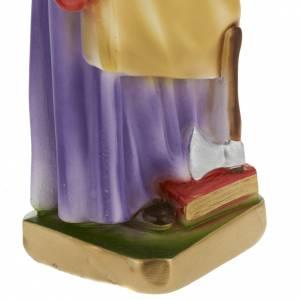 Statua San Giuseppe lavoratore 30 cm gesso s3