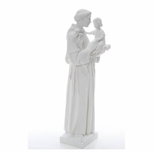 Statua Sant'Antonio 65 cm marmo bianco s4