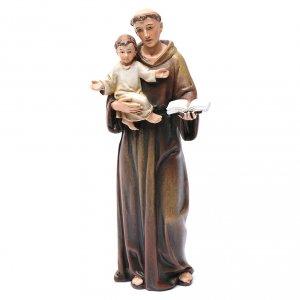 Statua Sant'Antonio pasta legno colorata 15 cm s1