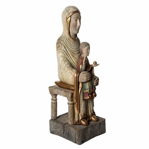 Sedes Sapientiae 72 cm legno finitura antico Bethléem s2