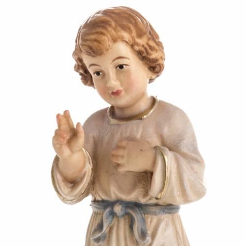 Statue bois Jésus adolescent peinte s2