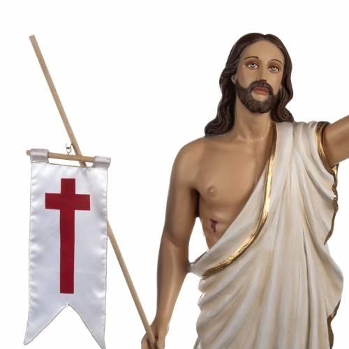 Statue Christ Ressuscité marbre 85cm peinte 3
