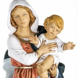 Statuen aus Harz und PVC: Statue Gottesmutter mit Christkind aus Harz 100cm, Fontanini