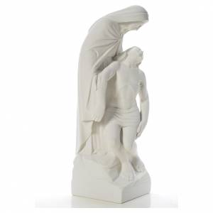Statue Notre Dame de Pitié marbre blanc 60-80 cm s4