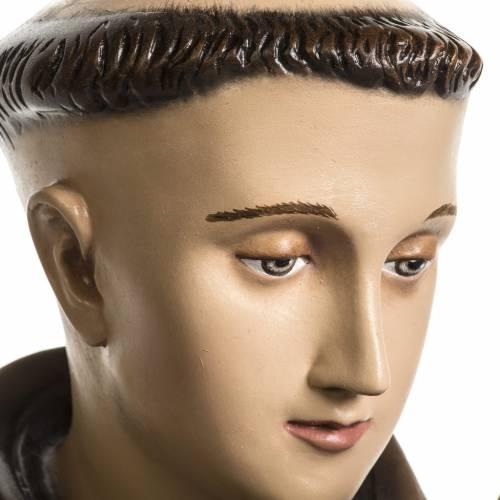Statue Saint Antoine de Padoue marbre reconstitué 100cm peinte s3