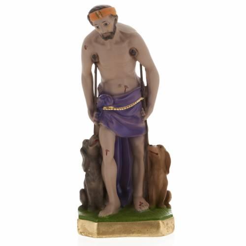 Statue Saint Lazare plâtre 30 cm s1