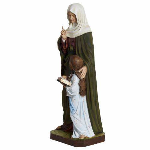 Statue Sainte Anne marbre 80cm peinte 5