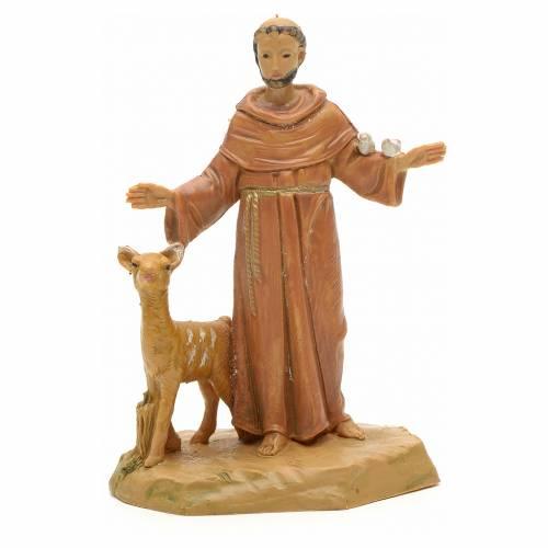 Statue St François et les animaux 7 cm Fontanini s1