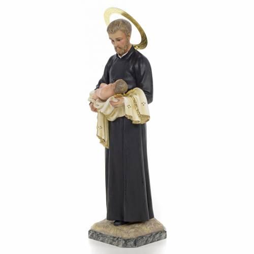 Statue St Gaétan 40 cm pâte à bois s2