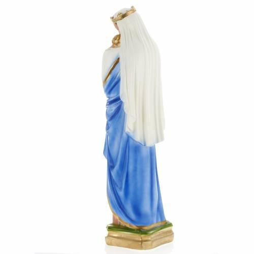 Statue Vierge à l'enfant plâtre perlé s5