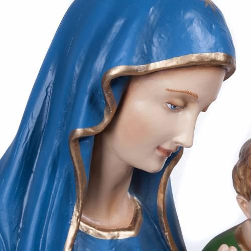 Statue Vierge de la consolation marbre reconstitué 80cm peinte s5