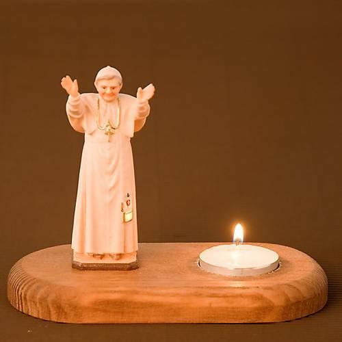Statua Benedetto XVI su base 2