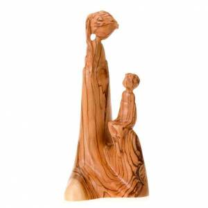 Madonna seduta con Gesù Bambino legno s1