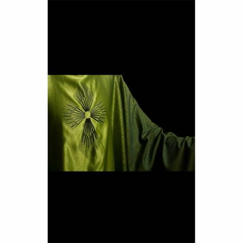 STOCK Chasuble blended colour with embroided Cross, wool s3