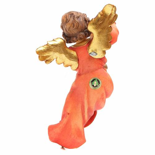 STOCK Musician Angel with flute, painted wood 14cm Val Gardena s2