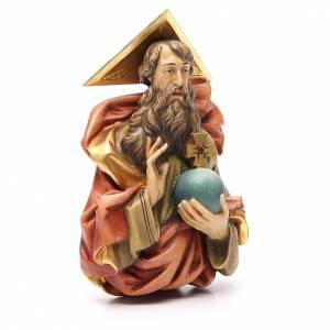 STOCK Père Éternel en bois peint 15 cm s3