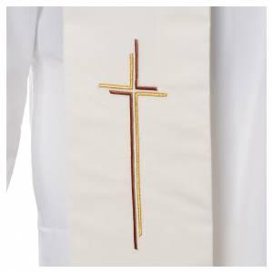Stola croce stilizzata 100% poliestere s2