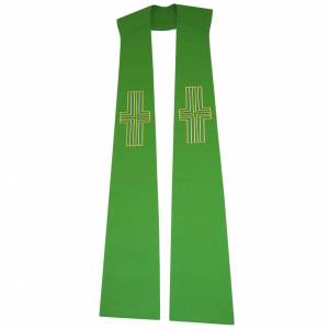 Stole in 100% polyester, stylised crosses s1