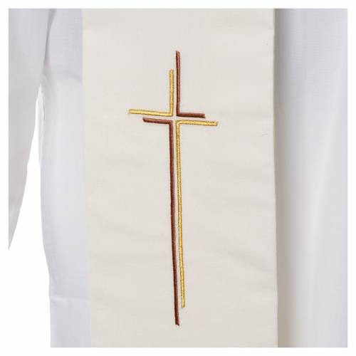 Stole stylised cross 100% polyester s2