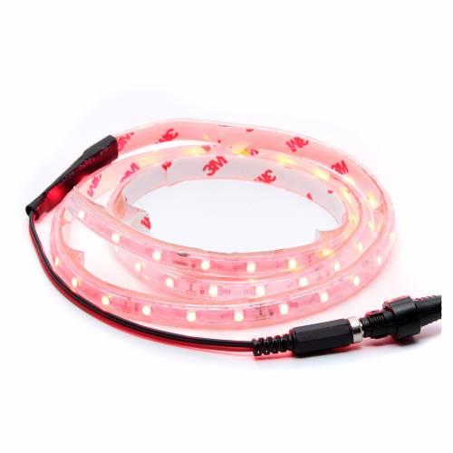 Striscia Led rosso 1 m 30 led con connettore s1