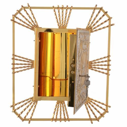 Tabernacle à accrocher avec rayons Agneau laiton s2