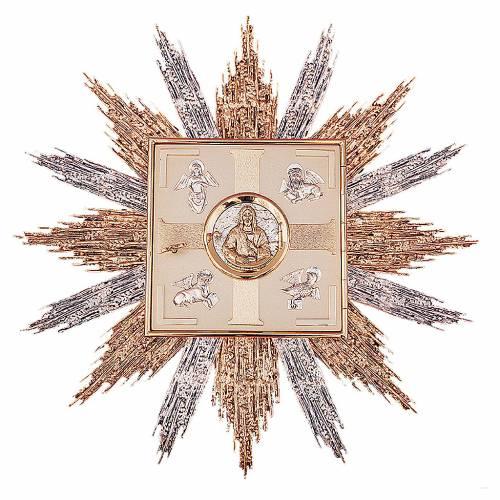 Tabernacle à accrocher laiton or argent symboles Évangélistes s1