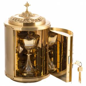Tabernacle d'autel en laiton Agnus Dei s3