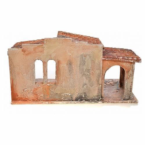 Étable avec toit en tuiles crèche Fontanini 12 cm s4