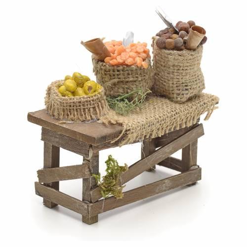 Table et sacs de jute, accessoire crèche Napolitaine s2
