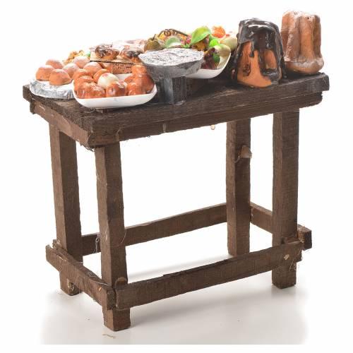 Table gâteaux cire crèche 20,5x20x13 cm s3