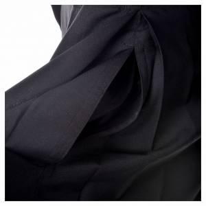 Abito talare in lana nera con bottoni ricoperti s5