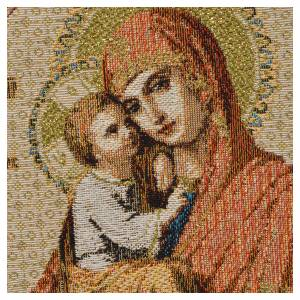 Tapestries: Tapestry Our Lady and baby, white background 32x23cm