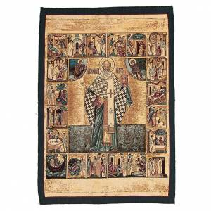 Tapisseries religieuses: Tapisserie Saint Nicolas de Myre 65x45 cm
