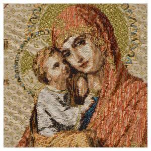 Tapiz con Nuestra Señora y Niño, fondo blanco 32x23cm s2
