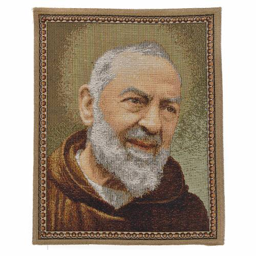 Tapiz con Padre Pío de Pietrelcina s1