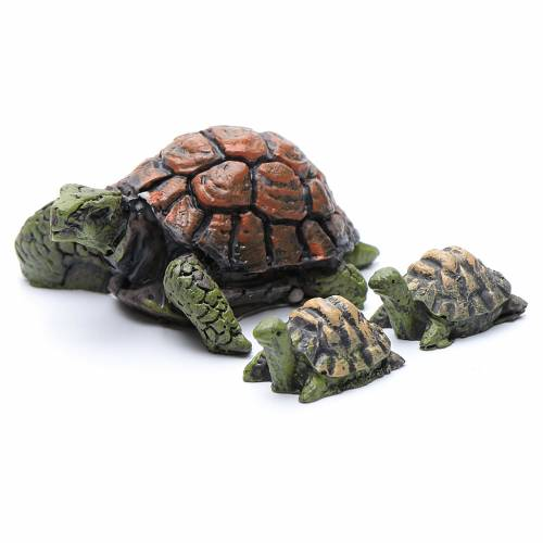 Tartarughe presepe resina 3 pz h reale 2-4 cm s1