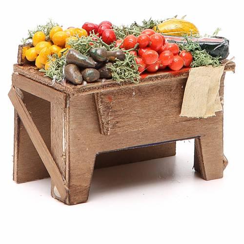 Tavola con verdure 8x9x7 cm presepe Napoli s3