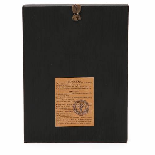 Tavola dipinta 18,5x24,5 cm Madonna di Kiko s2