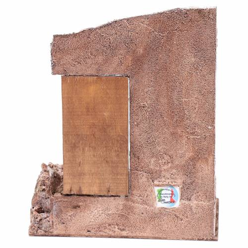 Tempio con porta in legno 29,5x24,5x18 cm s4